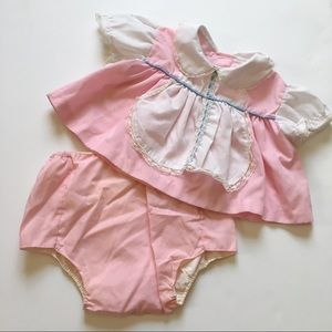 Other - Vintage baby girl pink dress and bloomers💗
